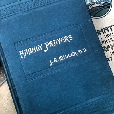 Old books fam prayers