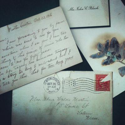 Old books letter